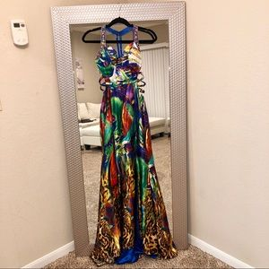 PROM DRESS Multicolored Long Formal Dress